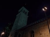Farský kostol - Noc